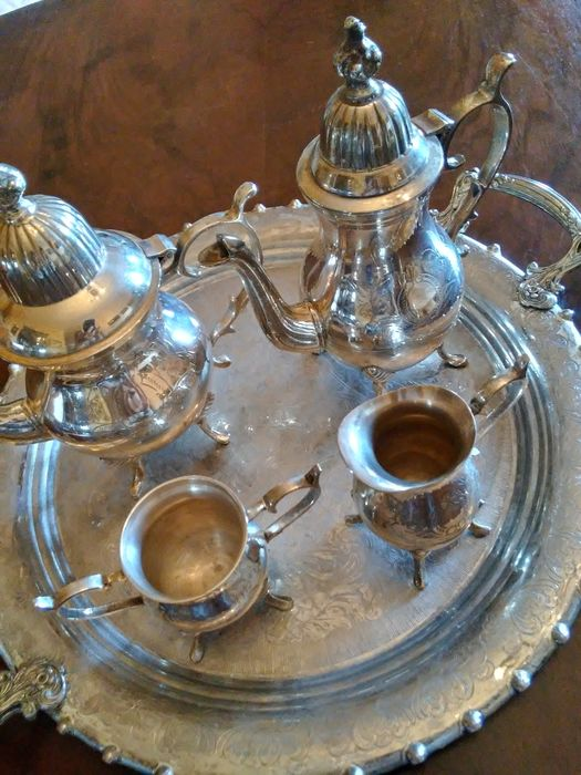 Coffee set (5) - Silver plated