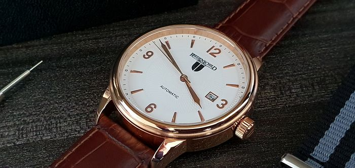 Riedenschild Germany - Luxury automatic Gold plated  with open back Glass     + free omega style strap - Heren - 2011-heden