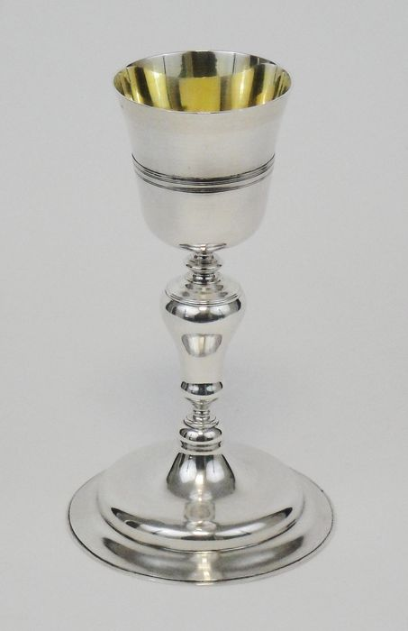 Chalice, Ancient silver liturgical chalice (1) - Silver - First half 20th century