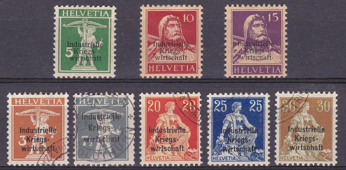 Switzerland - collection about Service stamps