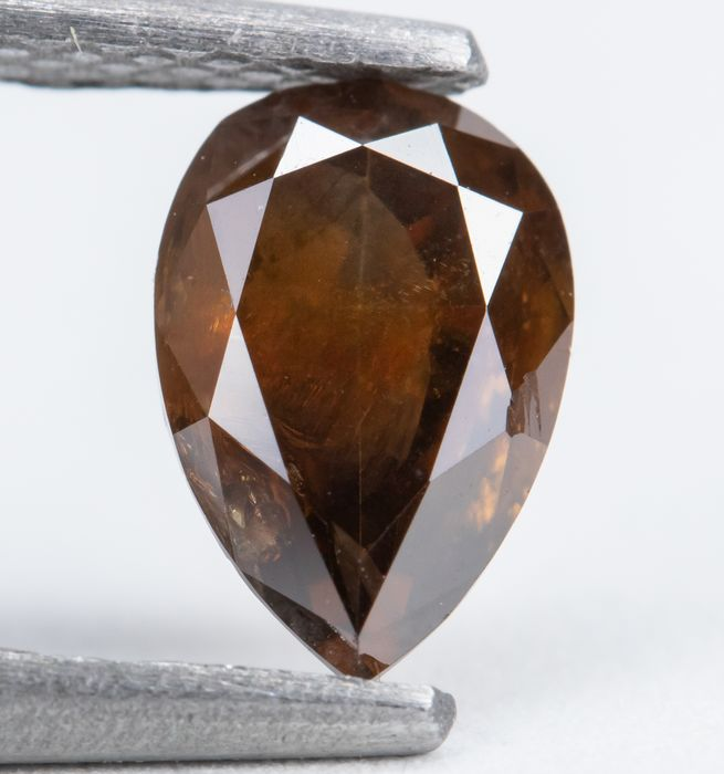 Diamond - 0.71 ct - Natural Fancy Deep Orangy Brown - I2  *NO RESERVE*