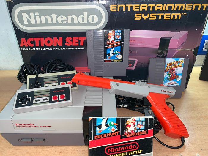 1 Nintendo Nes - Console with games (2)