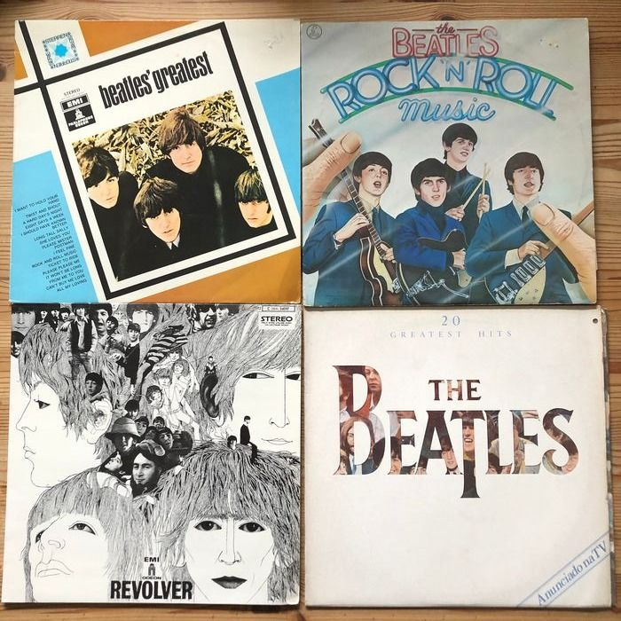 Beatles - 4 different Beatles albums - Multiple titles - LP Album - 1966/1982