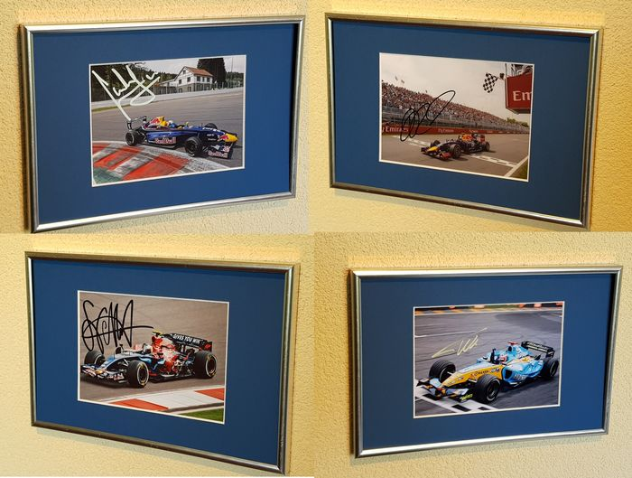 Red Bull Racing - Formula One - Carlos Sainz, Fernando Alonso, Seb Vettel and Daniel Ricciardo - Photograph(s)