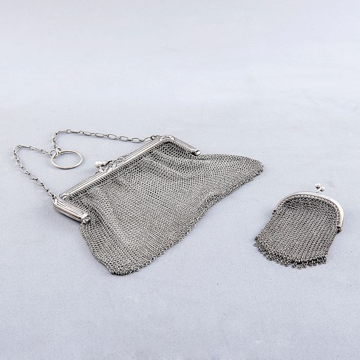 Bag and Limo Set - .800 silver - 195 gr. - Europe - Early 19th century