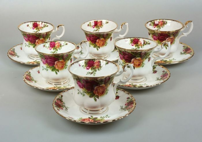 Royal Albert - Coffee set for 6 (13)
