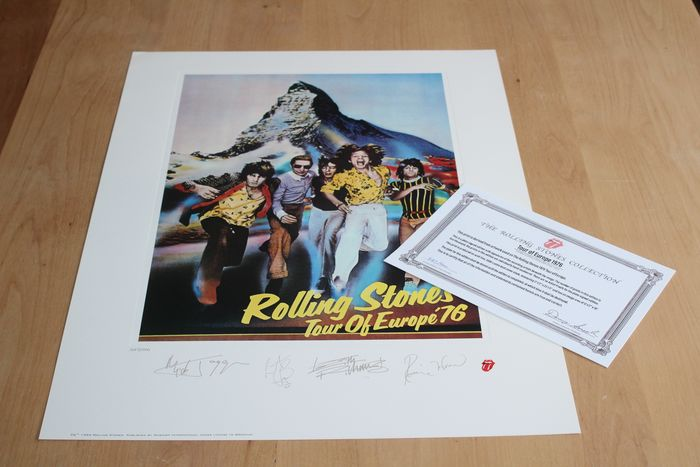 Rolling Stones - Limited Edition Lithograph - Europe 1976 - Original Lithograph - 1994/1994