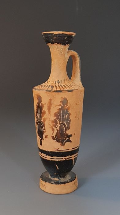 Ancient Greek Ceramic Attic black- figured lekythos