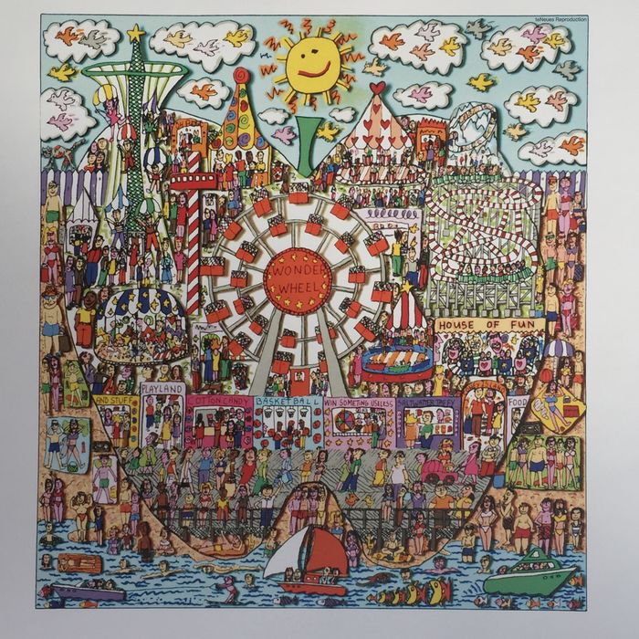 James Rizzi (after) - THE BIG APPLE IS BIG ON CONEY ISLAND