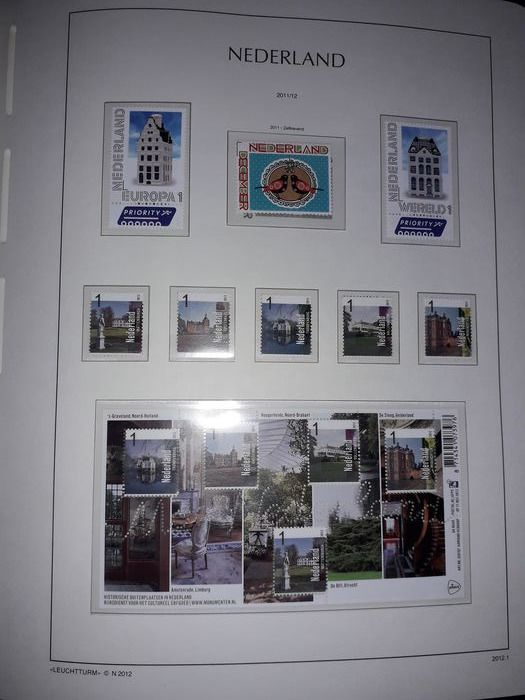Netherlands 2012 - Year collection on 14 Leuchtturm sheets.