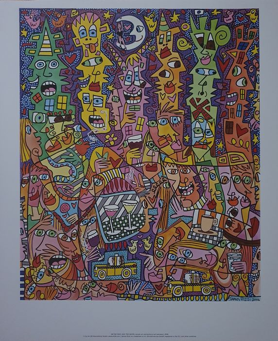James Rizzi (after) - Me We Miny And The Moon, 2006