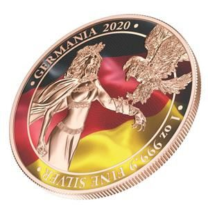 Germania. 5 Mark 2020 Mark Germania - The Flags - 1 Oz