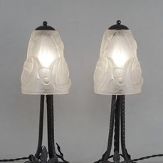 Degué - A pair of French art deco lamps