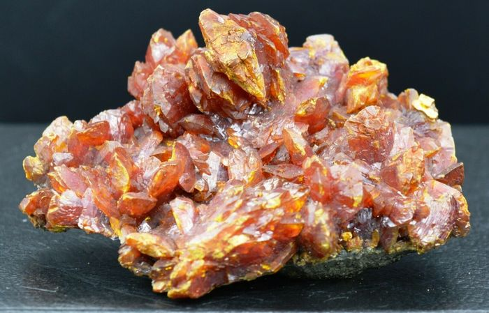Orpiment Crystals on matrix - 97×74×40 mm - 317 g