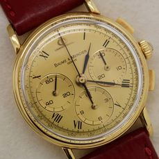 "Baume & Mercier - Chronograph macanique in oro ref. 86101099 - "" NO RESERVE PRICE "" - Heren - 1990-1999"