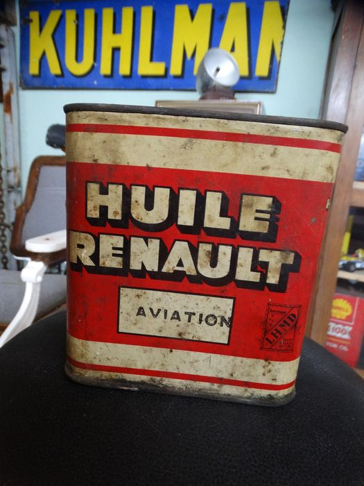huile renault can missing cover - huile renault - 1940-1950