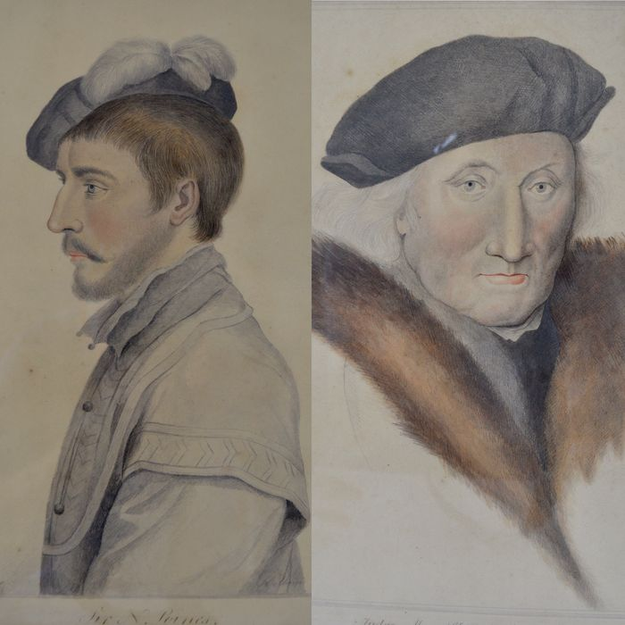 Susan Caswall after Holbein.(18th/19th century) - Portraits of two noblemen