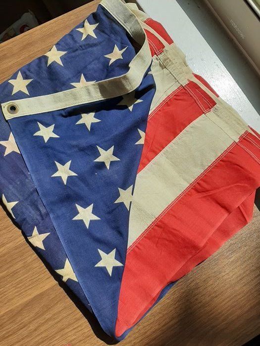United States of America - Rare WW2 48 Star Flag - Airborne - Infantry - Flag - 5 x 3 feet!!