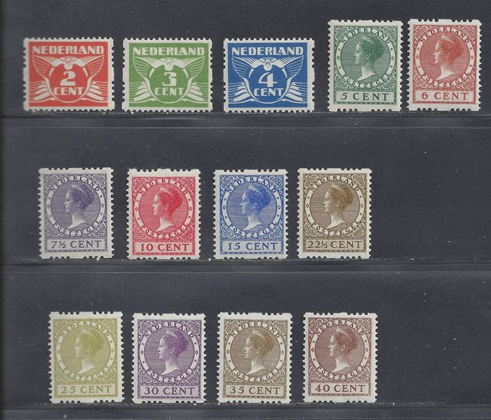Netherlands 1926/1927 - Two-sided syncopation - NVPH R19/R31