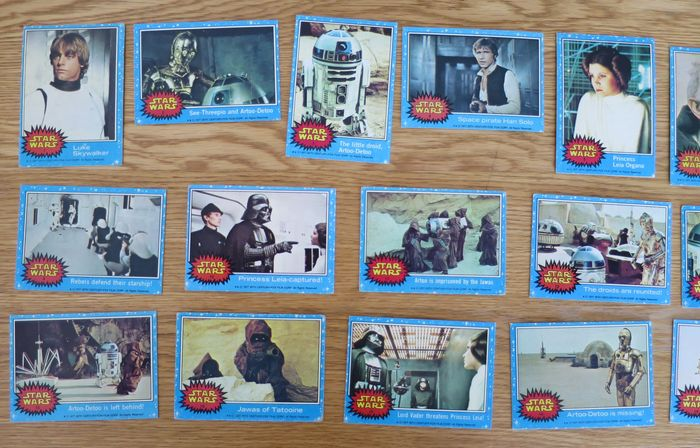 Star Wars - Lot of 66 - Vintage - 1977 Trading Cards (Series 1) - Card