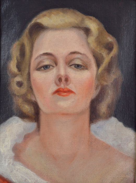 English school. (20th century) - A portrait of a lady