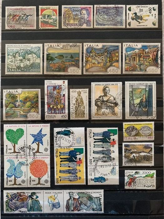 Italy Republic 1958/1999 - Collection of the period used with multiples