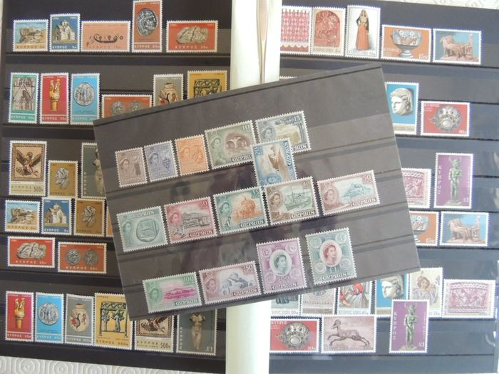 Cyprus 1955/1980 - Selection of MNH series and blocks between - Yvert 156 & 533 dont bloc 1