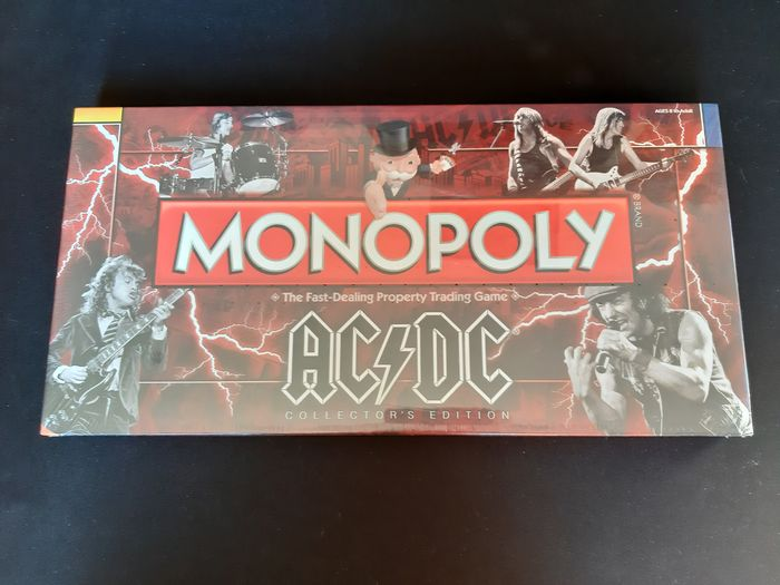 USAopoly - Collector's Edition - Board game Monopoly AC/DC Collector's edition, Rolling Stones Collector's edition + Metallica Collector's - 2000-present - U.S.