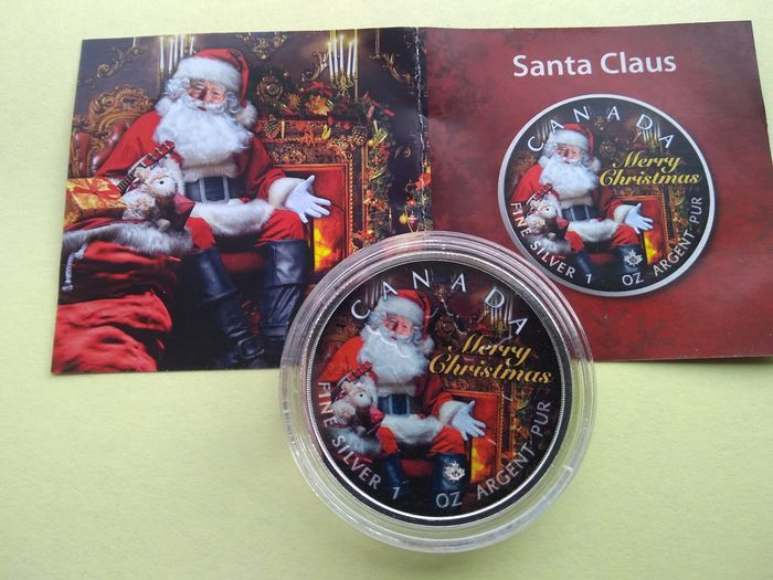 Canada - 5 Dollar 2019 - SANTA CLAUS - COLOR - 1 Oz - Silver