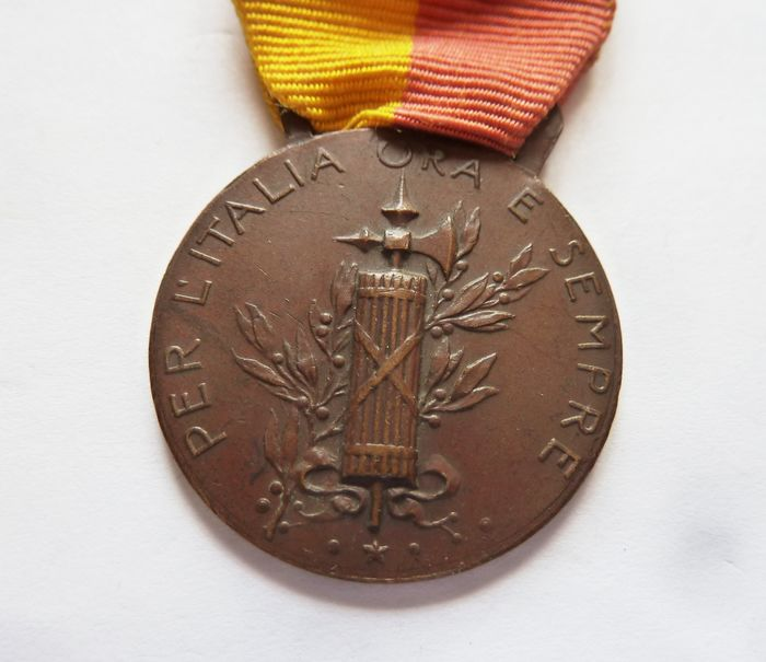 Italy - Rare variant medal of the March on Rome - Mussolini - Arditi - Squadristi - 1922 - Medal - 1922