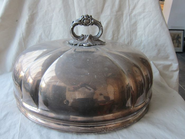 Antique Large dome cover (1) - Silverplate