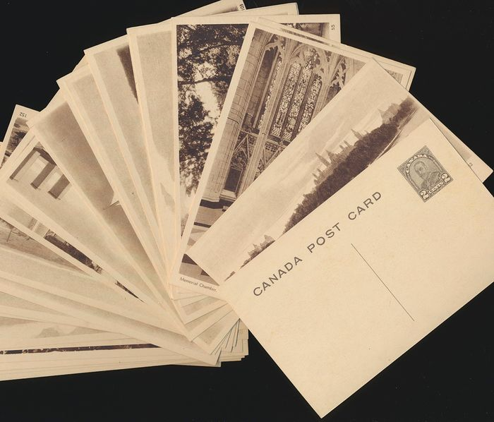 Kanada 1930 - Lot of 70 different mint Postal Stationery Picture Postcards