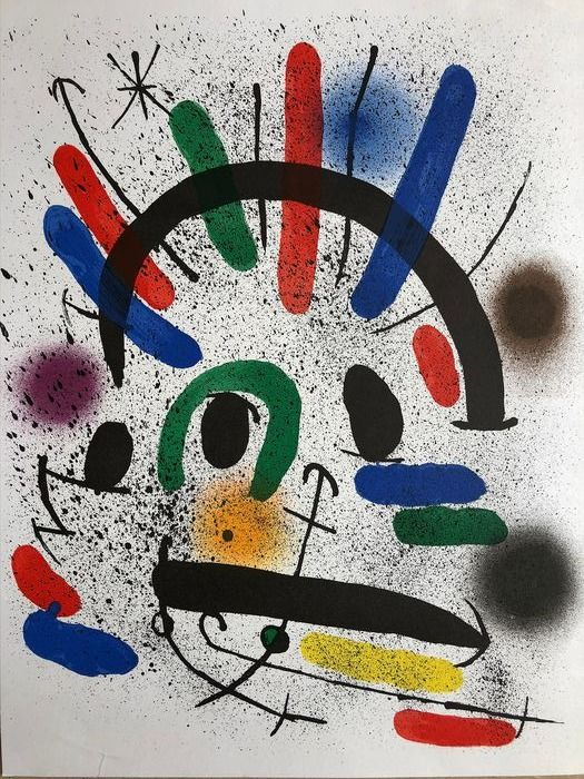 Joan Miró - Plate IV from Joan Miró Lithographs Volume I