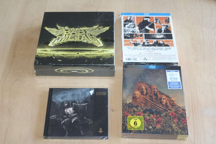 Various Artists/Bands in Hardrock-Heavy Metal, Opeth / In Flames / Babymetal / Behemoth - Multiple artists - 4 x CD/Blu-Ray Sealed Collection  - Multiple titles - CD Box set, CD's, DVD - 2016/2018