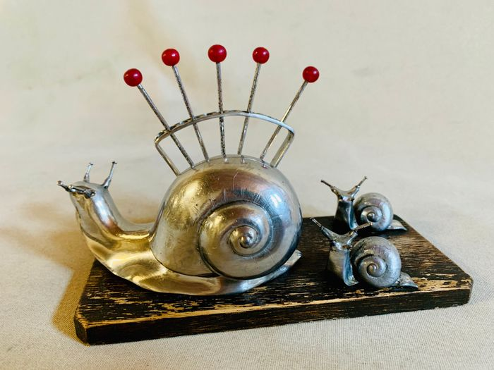 Snails with chopsticks -Art Deco - Snack service -First third S.XX -France