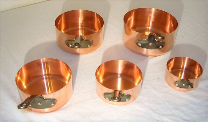 Made in France - A solid set of 5 French pans, gastronomy quality