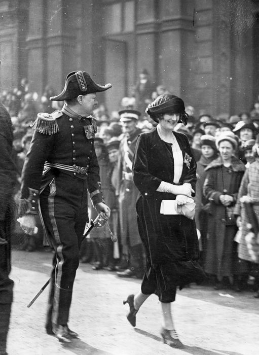 Daily Telegraph/L.N.A. - Mr. Winston Churchill and Lady Churchill at the wedind of Princess Mary, 1922