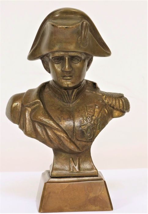 Sculpture, Bust of Napoleon - after S. Hoyer - Bronze - Early 20th century