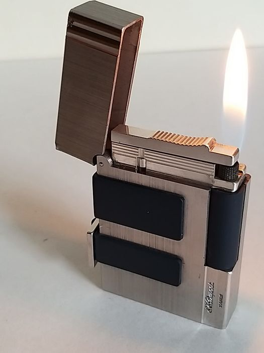 Dupont  - Dupont lighter line 2 in rubber and palladium - Dupont lighter line 2 in rubber and palladium of 1051