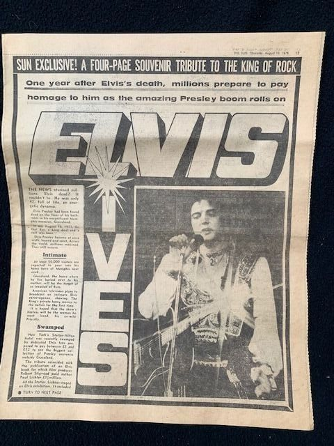 Elvis Presley - News paper pages and clippings - 1977/1977
