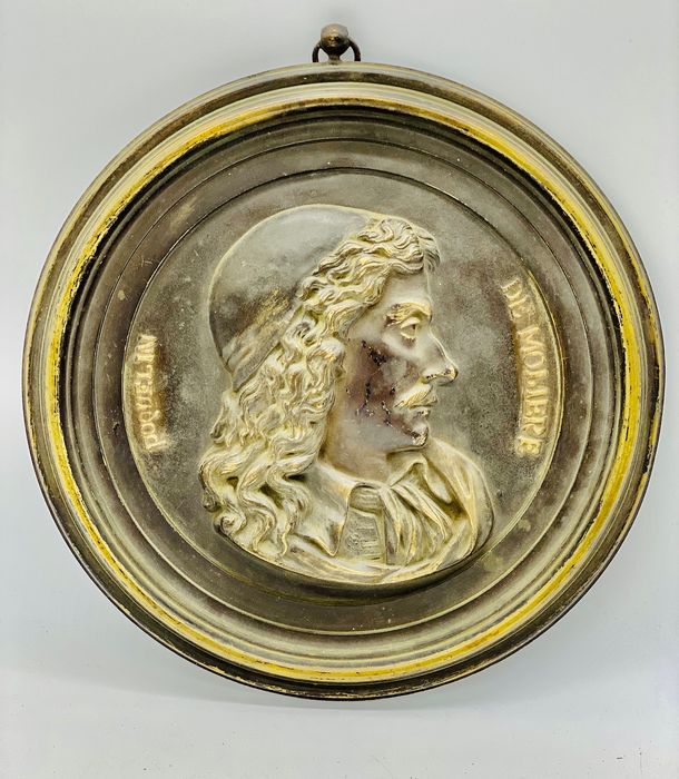 High Relief Moliere - Neoclassical - Bronze (patinated) - 19th century