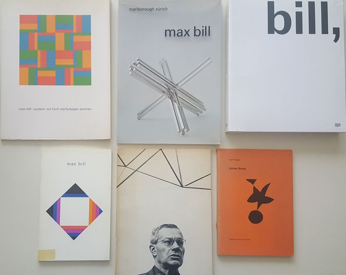 Signed; Max Bill - lot with 6 publications - 1945/2005