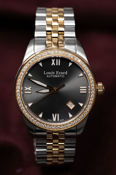 Louis Erard - Automatic 64 Diamonds for 0.97 Carat Heritage collection Rose Gold tone Swiss Made - 69101SB23.BMA21 - Heren - BRAND NEW