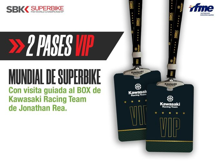 KRT Kawasaki Racing Team - World Superbike - 2020 - VIP passes