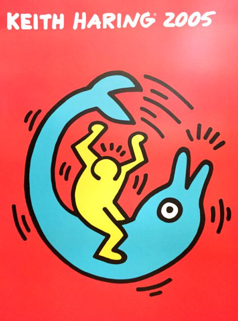 Keith Haring (after) - Untitled (Dolphin Button) - 2005
