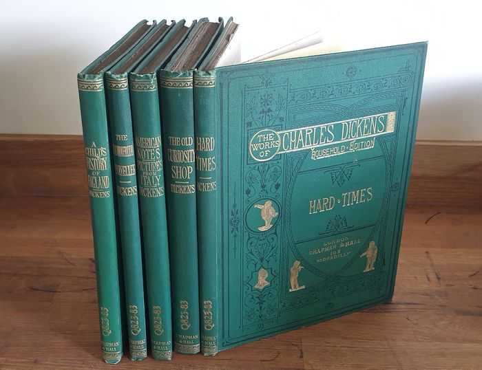 Charles Dickens - The uncommmercial traveller / American notes and Pictures from Italy/ The old curiosity shop/ Hard - 1875