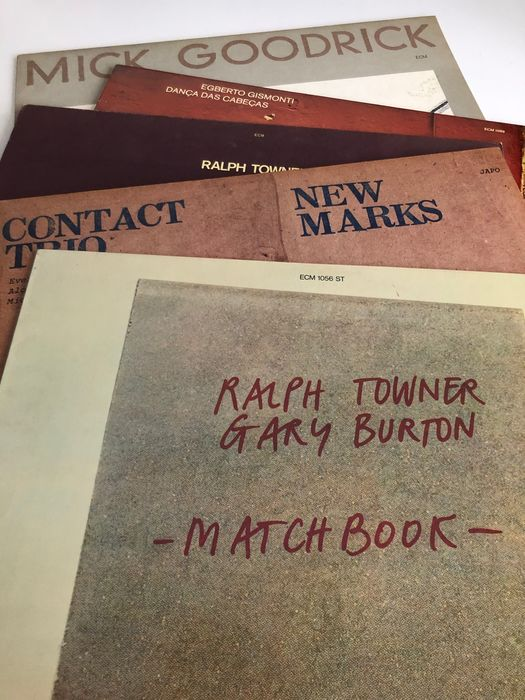 Ralph Towner, Mick Goodrick, Contact Trio, Egberto Gismonti - Lot of 5 classic 70s LPs on ECM - LP - 1975/1979
