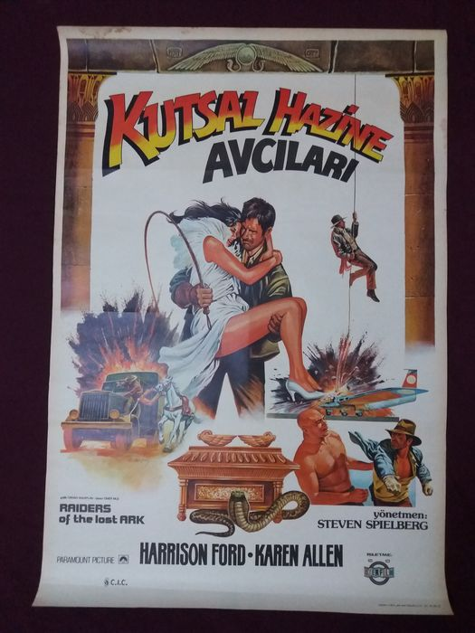 Lot of 2 - Raiders of the Lost Ark (1981) & Sinbad and the Eye of the Tiger (1977) - Poster, Original Turkish Cinema release -Rare Art