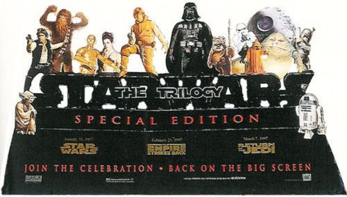 Star Wars - Original Trilogy Special Edition Theatrical Standee - Lobby version - very rare - Complete in box
