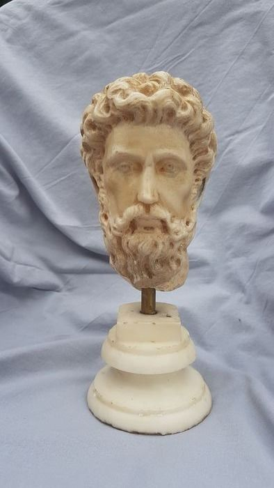 Sculpture, Marcus Aurelius (2) - Marble - 20th century